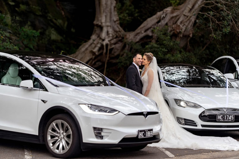 Tesla Hire Cars for Sydney Weddings